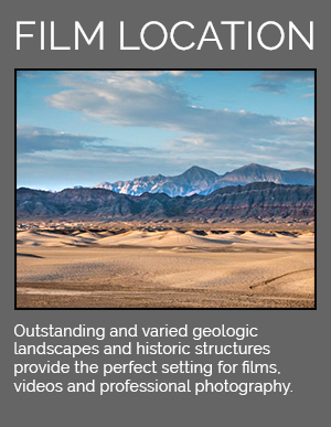 Outstanding and varied geologic landscapes and historic structures provide the perfect setting for films, videos, and professional photography.