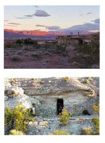 Shoshone Village caves.
