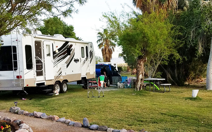 Reserve an RV space at Shoshone RV Park.