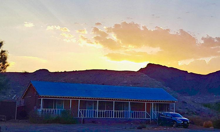 Shoshone Village sunset.